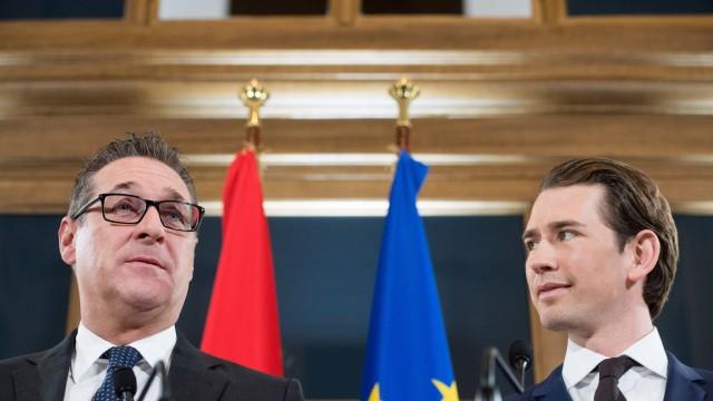 Wien 06 12 2017 Palais Epstein Wien AUT Koalitionsverhandlungen von OeVP und FPOe anlaesslich de