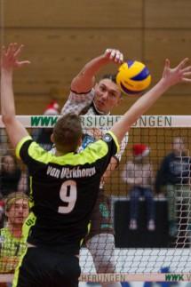 Angriff Andre BROWN 18 HER Volleyball TSV Herrsching HER Bergische Volleys Solingen S; Volleyball