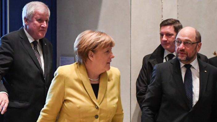 Treffen der Spitzen von Union und SPD