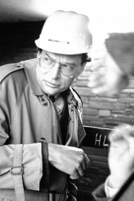 Gerhard Cromme wird mit Eiern beworfen, 1989