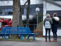 Brand Bert Brecht Gymnasium Pasing