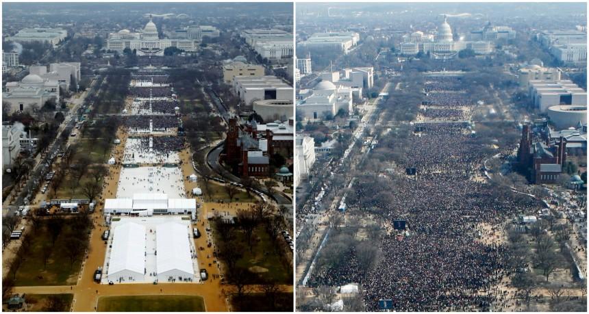 Amtseinführung Trump vs. Obama
