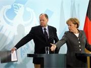Merkel Steinbrück dpa