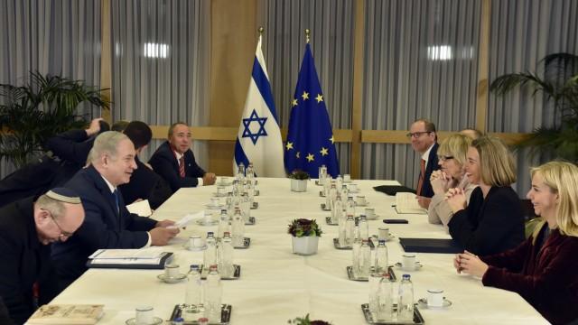 Netanjahu bei EU-Außenministern in Brüssel