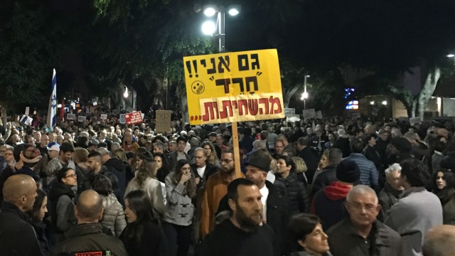 Demonstration 'Marsch der Schande' in Tel Aviv