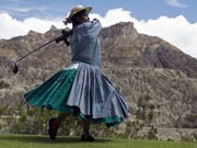 La Paz Golf Club in Bolivien, AFP