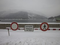 Lawinenwarnung - Sylvensteinstausee - Sylvensteinspeicher
