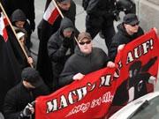 Die nackte Brutalität der NPD, Rechtsextreme Demonstration in Passau, dpa