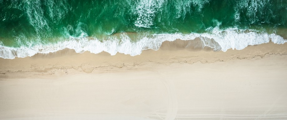aerial view of the beach in miami