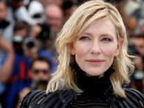 FILE PHOTO: Cast member Cate Blanchett poses during a photocall for the film 'Carol' in competition at the 68th Cannes Film Festival in Cannes