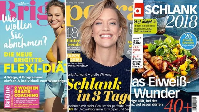 Journalismus Diät-Tipps in Magazinen