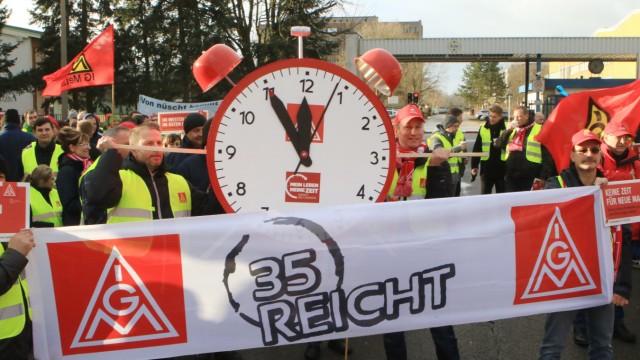 Warnstreik der Metall- und Elektroindustrie in Brandenburg