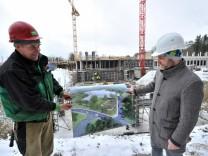 Feldafing: Siemenstrasse Großbaustelle Reha-Krankenhaus