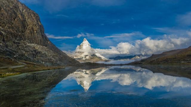 Riffelsee Matterhorn Monte Cervino Mont Cervin 4 478 m Rotenboden Penninische Alpen Zermatt