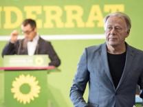 Kleiner Parteitag Cem Özdemir + Jürgen Trittin Auf dem zweiten Länderrat 2017 von Bündnis90 Die Grü