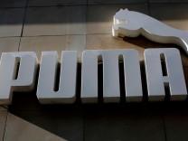 Puma-Logo mit der Raubkatze.