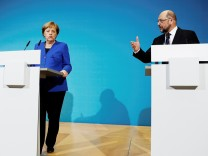 Statements after exploratory talks about forming a new coalition government at the SPD headquarters in Berlin