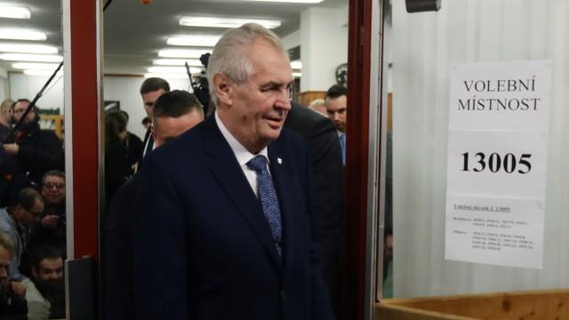 Tschechien Präsidentschaftswahlen Milos Zeman