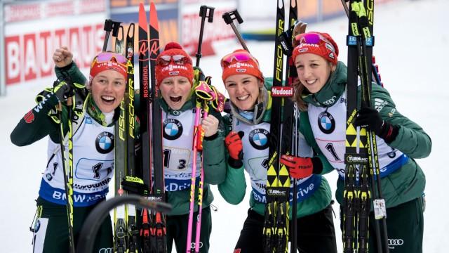 Biathlon-Weltcup Ruhpolding - Staffel Damen