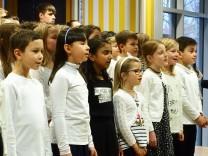 Poing, Neujahrsempfang 2018, Chor der Anni-Pickert-Schule