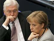 Frank-Walter Steinmeier, Angela Merkel, dpa