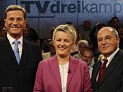 TV-Dreikampf: Westerwelle, Künast und Gysi