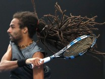 Tennis - Australian Open - Dustin Brown of Germany v Pedro Sousa of Portugal - Melbourne, Australia