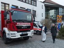 Segnung und Uebergabe von Katastrophenschutzfahrzeugen