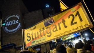 Montagsdemo Stuttgart 21 Bahnhof Kopfbahnhof Demonstration Deutsche Bahn