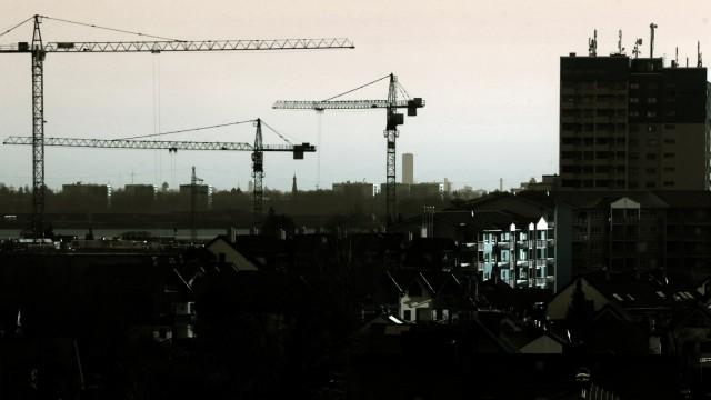 Germering: Skyline Richtung Muenchen