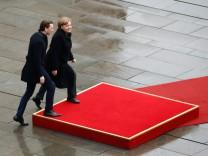 Sebastian Kurz zu Besuch bei Angela Merkel