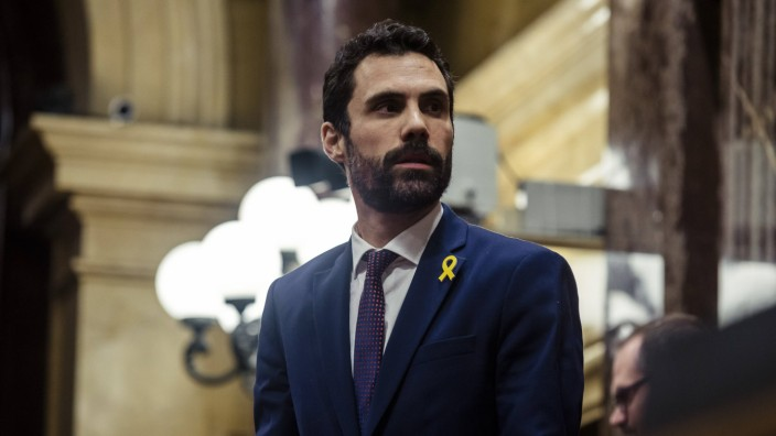 January 17 2018 Barcelona Catalonia Spain ROGER TORRENT ERC new President of the Catalan Pa