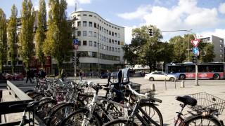 Fahrräder am Goetheplatz in München, 2016
