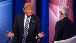 Donald Trump und Anderson Cooper