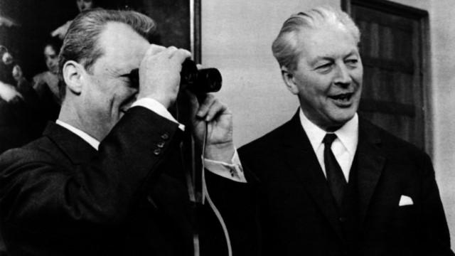 Willy Brandt und Kurt Georg Kiesinger, 1968
