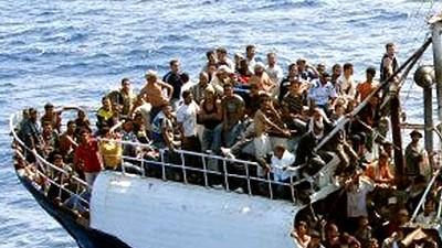 Afrikanische Flüchtlinge in Italien