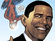 obama als comicheld in spiderman reuters