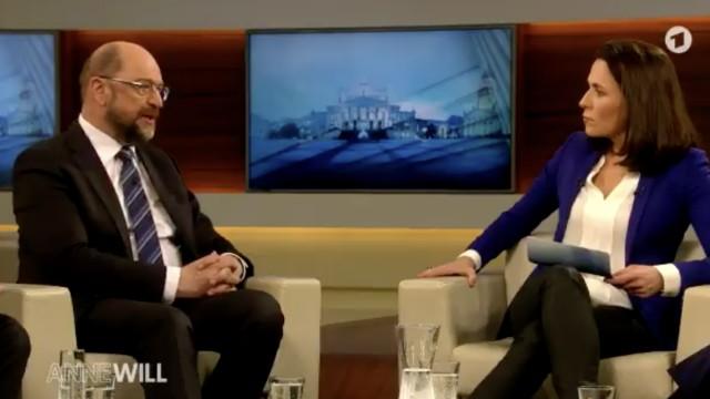 SPD-Chef Martin Schulz, Anne Will, ARD