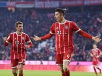 Fussball 1 Bundesliga Saison 2017 2018 19 Spieltag FC Bayern Muenchen SV Werder Bremen 21 01 2018; Lewandowski