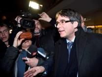 Catalan separatist leader Carles Puigdemont arrives at Copenhagen Airport, Denmark