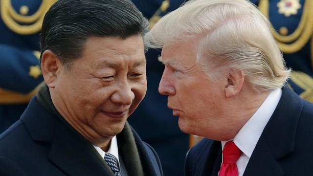 Donald Trump und Xi Jinping bei einem Treffen 2018