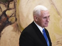 U.S. Vice President Mike Pence seen during a visit to the Knesset, Israeli Parliament, in Jerusalem