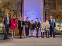 Schulsportehrung 2018; Jugend trainiert für Olympia Turnmannschaft des Lise Meitner-Gymnasiums Unterhaching bei der Ehrung des Kultusministeriums