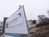 Baustelle für Business-Campus in Unterschleißheim, 2016