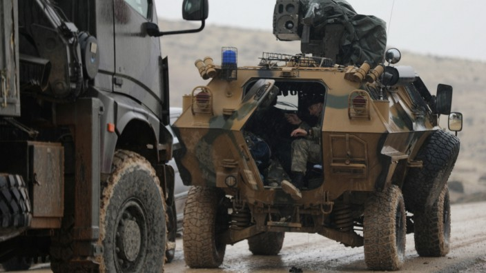 Turkish forces are seen near Mount Barsaya