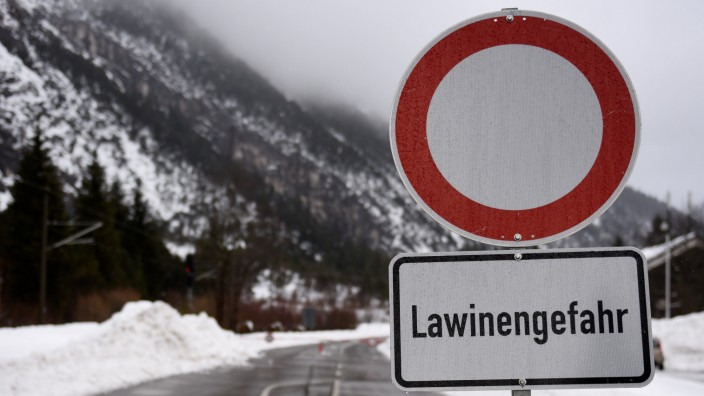 Lawinengefahr in Bayern