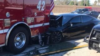 Tesla 'on Autopilot' Slams into CA Apparatus