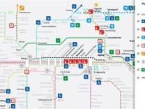 Interaktive Karte Bahn München