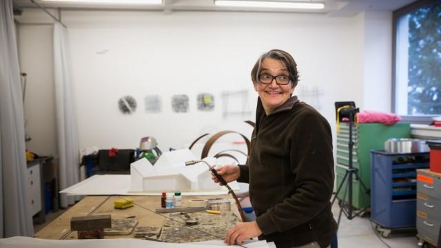 München: Sabine Straub in ihrem Atelier. Tassilo, Streitfeld Projektraum.