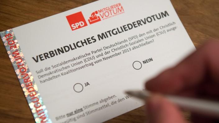 SPD-Mitgliedervotum zur Großen Koalition